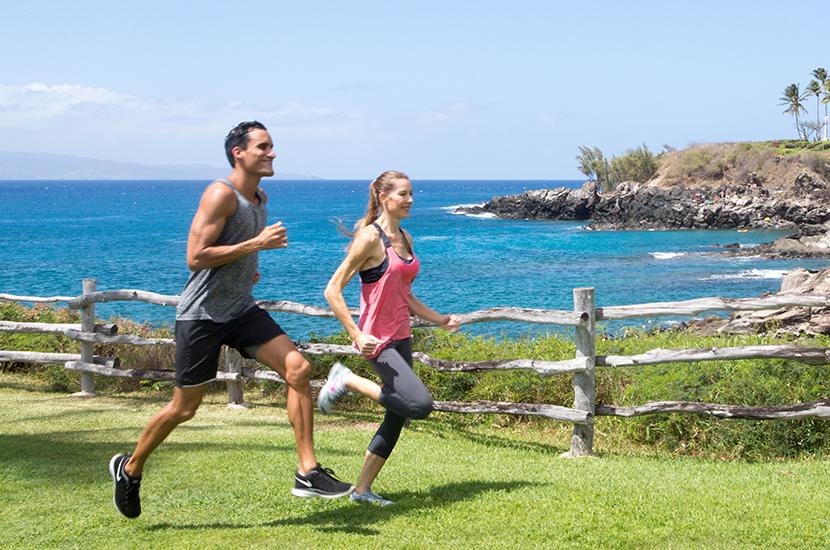 Running at Montage Kapalua Bay