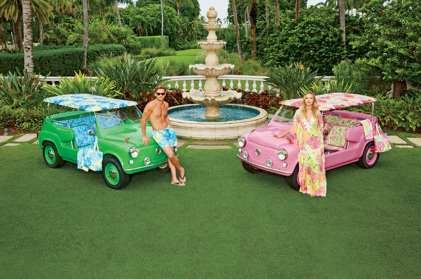 His & Hers Neiman Marcus Fantasy Gift Island Cars Featuring Lilly Pulitzer