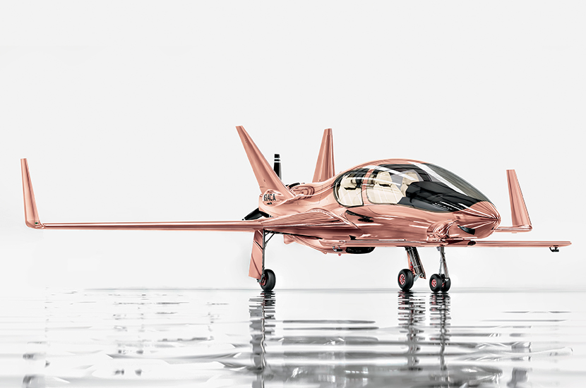 Neiman Marcus Fantasy Gift: Cobalt Valkyrie-X Private Plane in Rose Gold