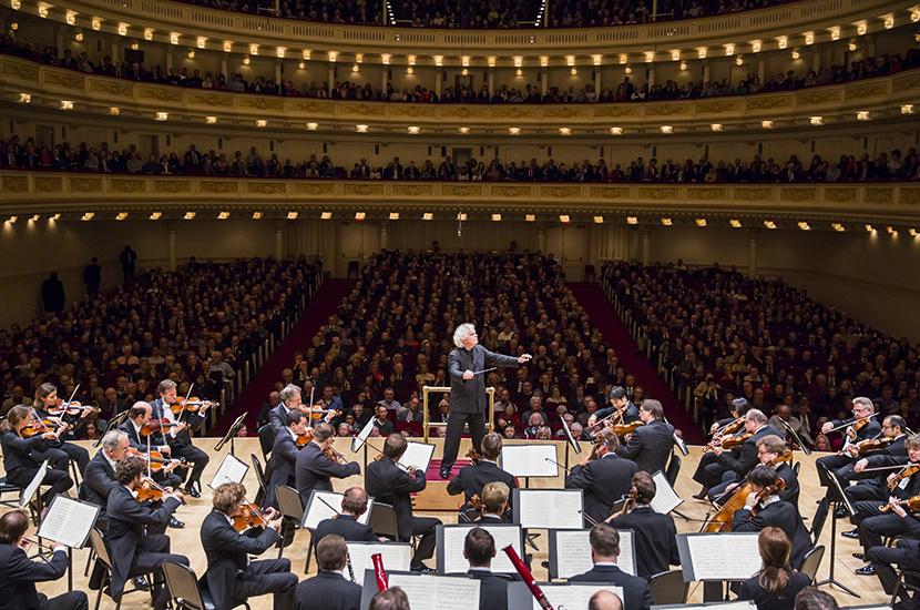 Berliner Philharmoniker performing last season in the hall's Stern Auditorium.