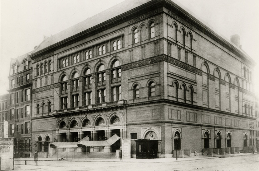 Carnegie Hall, showing the building as it originally appeared in 1891
