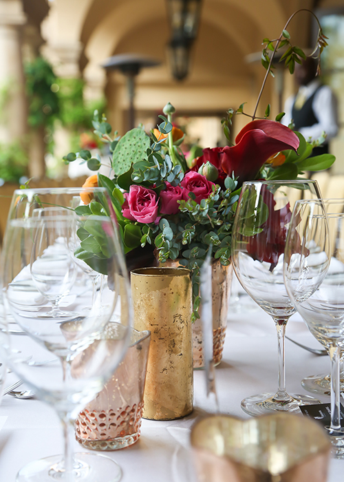 Private Dining Floral Holiday Tablescape