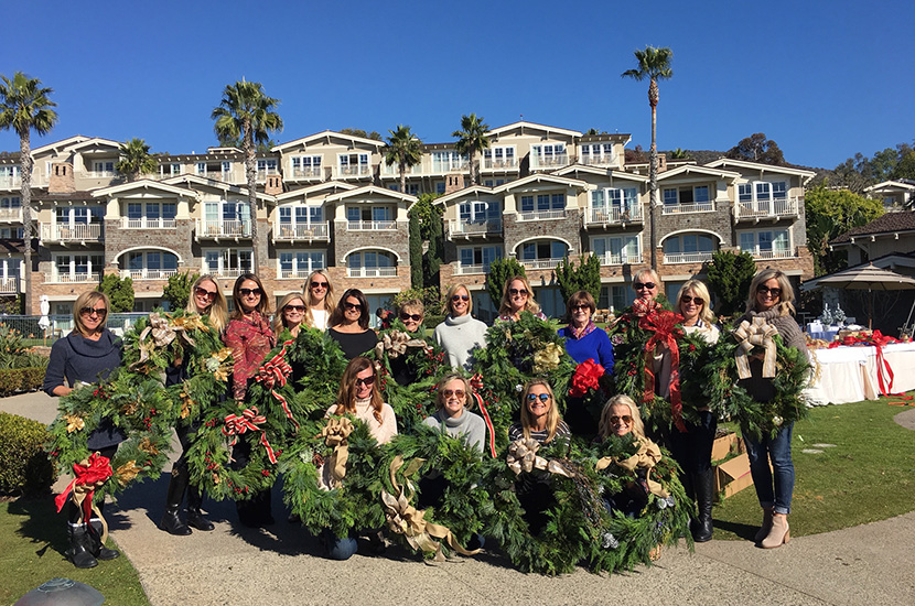 Wreath-Making Party at Montage Laguna Beach