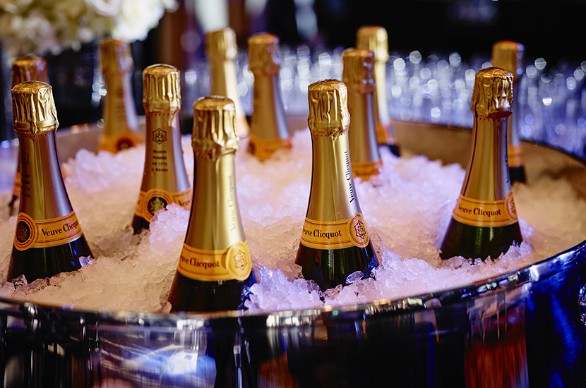 Champagne at New Years Eve Party