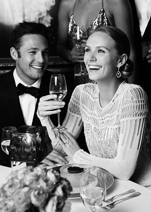 Couple Enjoying Dom Pérignon