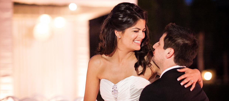 Couple Enjoying their Fall Beverly Hills Wedding