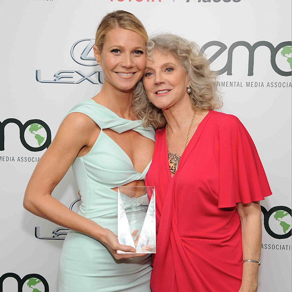 Gwyneth Paltrow and her mother, Blythe Danner, at the EMA Awards