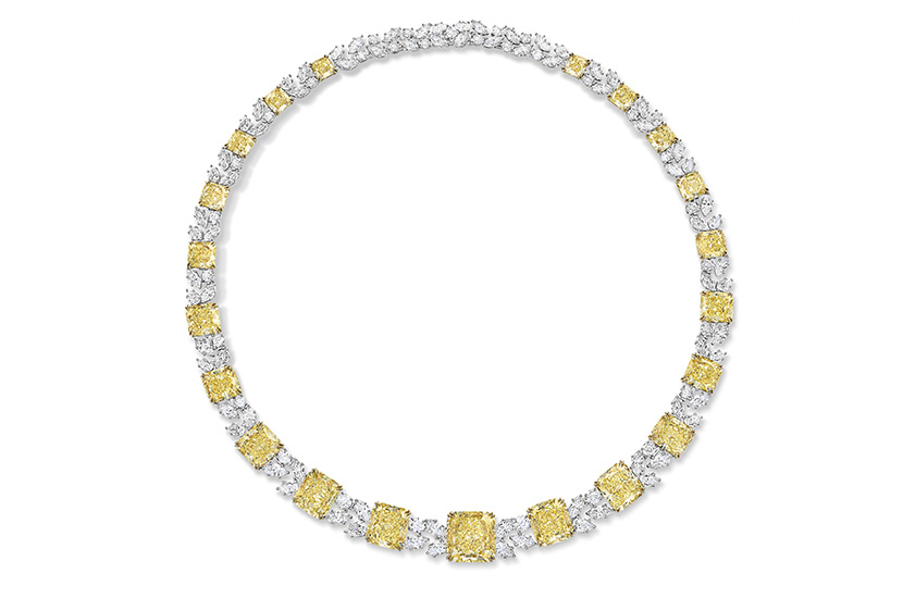 The Incredibles Collection Colored Radiant-Cut Yellow Diamond Necklace