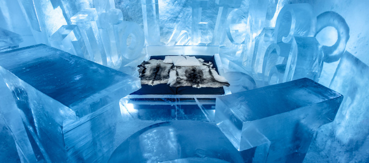 The Art Suite at the Icehotel in Sweden